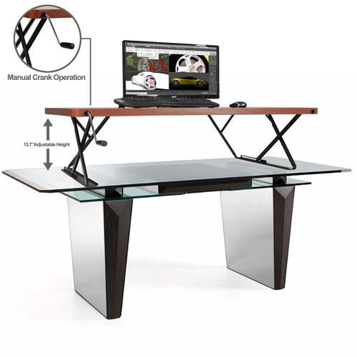 the halter sit stand desk has a max load of 44 lbs it weighs under 36 you can get yours for under 250