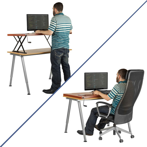Halter Adjustable Sit / Stand Desk » Fitness Gizmos