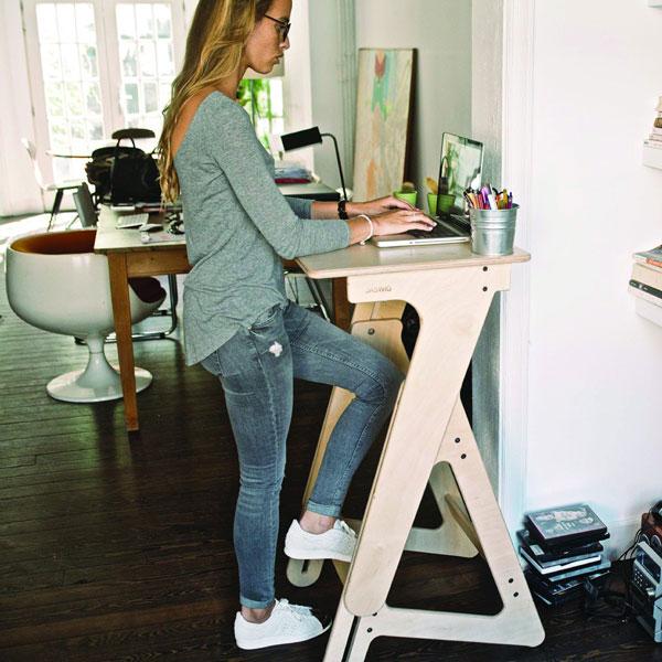 Stability Ball Vs Standing Desk: Height Adjustable Wooden Standing Desk