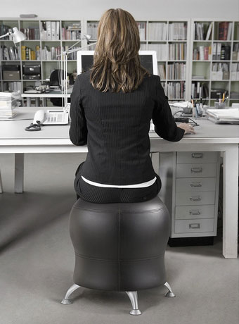 How you sit affects how your body feels after a long day at work. Many of us donu0027t maintain proper sitting posture while working. The Zenergy Ball Chair not ... & Zenergy Ball Chair Improves Your Posture » Fitness Gizmos