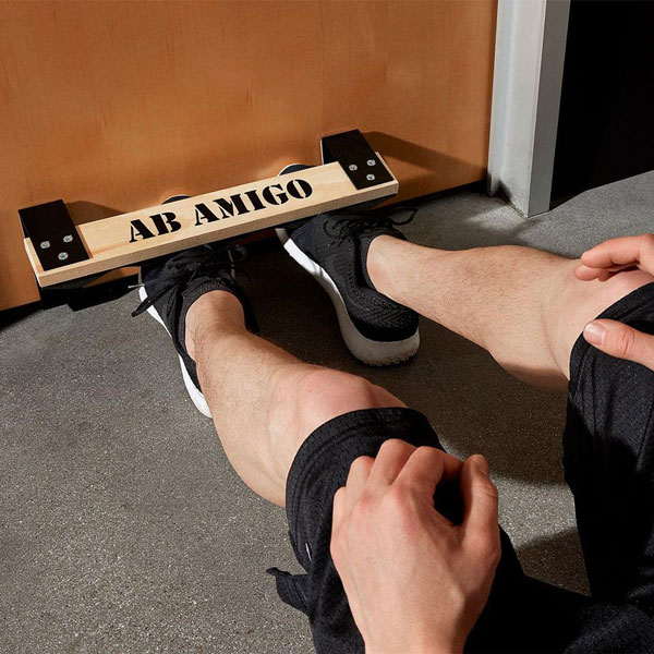 The Ab Amigo Is A Doorway Bar That Gives You Padded Foothold It Has Lightweight Portable Design Comes With Flat Metal Brackets Slide Under
