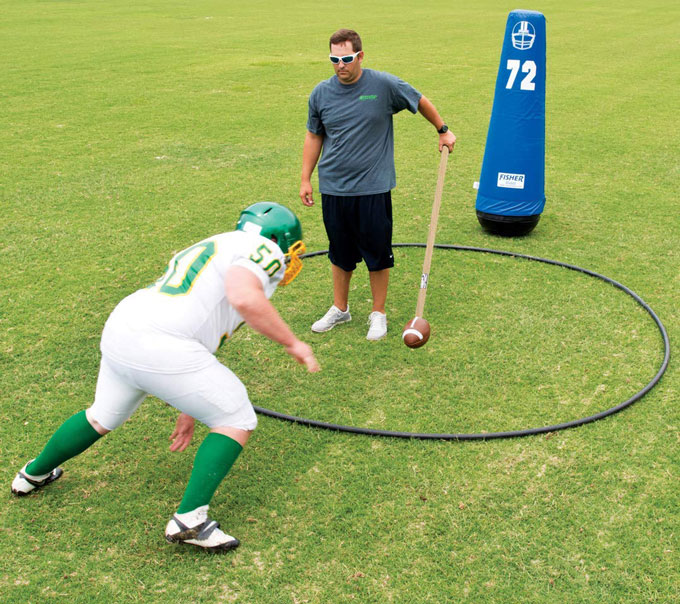 Fisher Athletic Team Football On A Stick 187 Fitness Gizmos