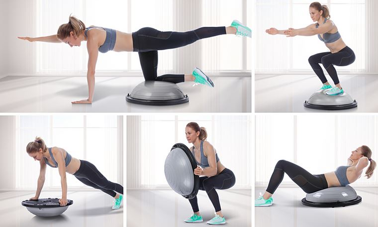 Sportneer Balance Yoga Trainer Balance Ball Balance Board with Resistance Bands