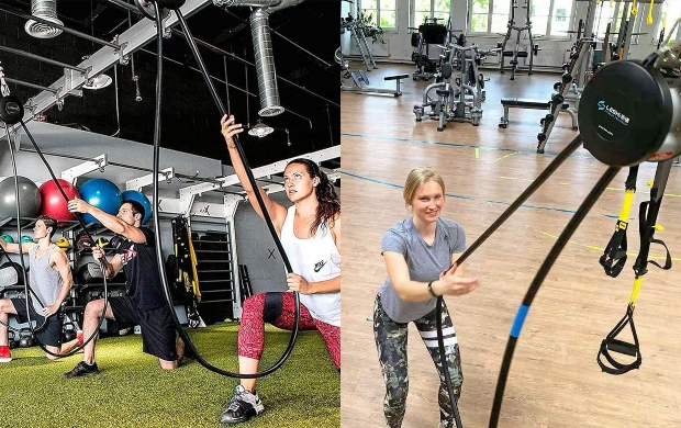 LESHI Endless Rope pro aerobis trainer Resistance Trainer Functional Gym machine